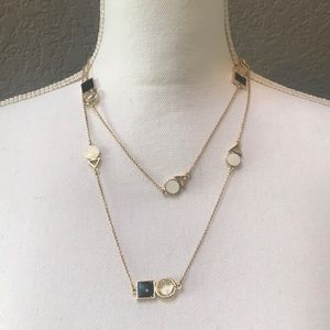 New Kate Spade necklace: gold/black/white/clear